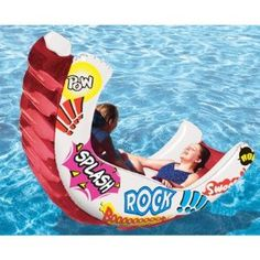My sisters and I would have TOO much fun with this!! Poolmaster Aqua Rocker Fun Float