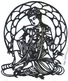 buddha paper cut
