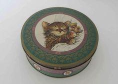 Vintage Tin box Giordano Tin Kitten box Giordano Kitty Cat