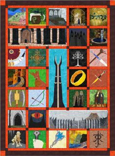 Fandom In Stitches: Not All Who Wander Are Lost, an exclusive Lord of the Rings quilt designed by our designers. FREE PATTERNS all now online! @Lilja Björk