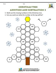 Christmas worksheets from Math Salamanders