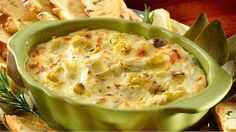 In this family-friendly baked artichoke dip recipe, artichokes and cheese are mixed with Knorr® Leek Recipe Mix, creating an irresistible appetizer that's guaranteed to be a game-day classic. Leek Recipes, Dip Recipes, Low Carb Recipes, Protein Recipes, Bariatric Eating, Bariatric Recipes, Bariatric Surgery, Leek Dip, Baked Artichoke Dip