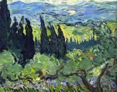 "Louis Valtat ""Italian Landscape Cypresses"""