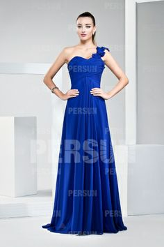 2013 New Ruching Pleats One Shoulder Chiffon A-line Bridesmaid Dress
