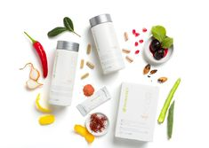 Nothing but the essentials! Take a look at what you can expect to find inside the new streamlined Kit Lemon. Pomegranate Fruit, Cherry Fruit, Nu Skin, Orange Sanguine, Low Calorie Drinks, Magnesium Carbonate, Grenade, Milk Protein