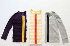 Exposed zipper cardigans for kiddies - from Makeitandloveit.com