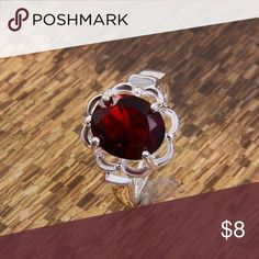 Ruby Red Sterling Silver Ring - Size 6 Brand new boutique item! 💕   Bundle 2 or more items for 15% off OR 6 or more items for 25% off!!  Please make an offer using the offer button instead of comment section.   Happy to answer any additional questions ☺️  Thank you so much for shopping my closet!! ❤️ Raleigh Runway Jewelry Rings