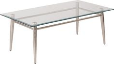"42"" Rectangular Glass Coffee Table 