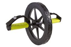 "Extreme Ab Wheel by GoFit. Dual-purpose foot/hand grips. Soft-gripping firm rubber for a superior grip. Heavy-duty wheel with solid steel axle construction. Strong, nylon-web straps for secure foot placement. Includes go fit training media. Heavy-duty wheel with solid steel axel construction, 13-3/4"" diameter. Hand Grips / foot Pedals of soft-touch rubber for superior hold and stability. Heavy duty foot straps with quick change, fully adjustable Velcro closures. Flat pedals with textured..."