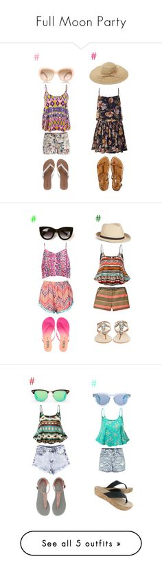 """Full Moon Party"" by parcocafe ❤ liked on Polyvore featuring Influence, Pieces, Wet Seal, Tory Burch, Jolie Moi, Calypso St. Barth, Boohoo, By eLUXE, Tkees and Thierry Lasry"