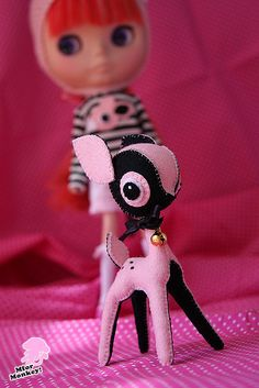 MforM Strawberry Deer Felt Toy | Flickr - Photo Sharing!