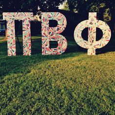 i love these pi phi yard letters