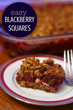 Whether you call this a blackberry crumble recipe or blackberry squares - the point is this blackberry recipe is awesome!!