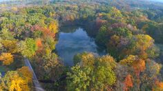 Drone video captures Chicago-area fall colors
