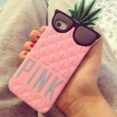 чехол для iphone, ананас, розовый