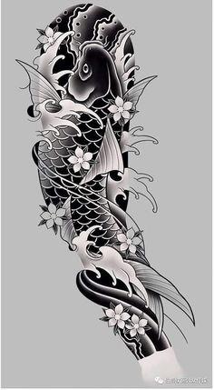 Japanese Temple Tattoo, Japanese Forearm Tattoo, Japanese Warrior Tattoo, Japanese Koi Fish Tattoo, Japanese Tattoo Designs, Japanese Sleeve Tattoos, Tatto Koi, Dragon Koi Tattoo Design, Japan Tattoo Design