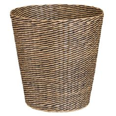 ETHNIK - Black Striped Plant Fibre Basket
