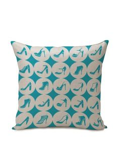 Teal Shoes Heels & Pumps Throw Pillow