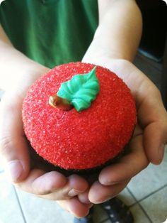 Apple Cupcakes- teacher appreciation