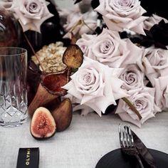 • STYLING • crystal glasses, roses and noddy tones by @olympiacreative • #wedding #reception #bridestyle #weddingstyle    #Regram via @onedaybridal