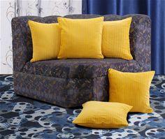 Dekor World Cotton Velvet Stripe Yellow Cushion Cover (Pack of 5).