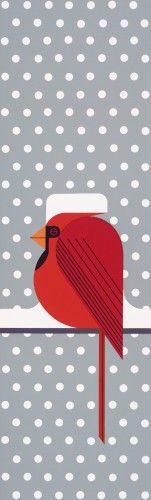 Cool Cardinal by Charley Harper, 1974. Serigraph print