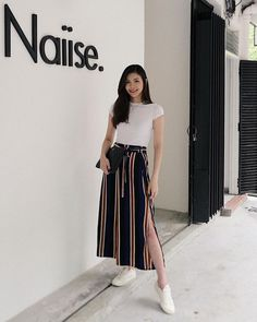 Korean Casual Outfits, Basic Outfits, Modest Outfits, Classy Outfits, Pretty Outfits, Summer Outfits Korean, Korean Girl Fashion, Korean Fashion Trends, Ulzzang Fashion