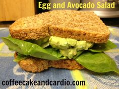 egg and avocado salad. Heathly, clean foods, and whole foods.