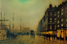 Atkinson Grimshaw, 'Liverpool Quay by Moonlight' 1887