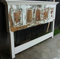 homemade headboards for king size beds | Old Door Headboard - Made for a King Size Bed
