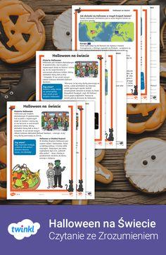 Czytanka wyjaśnia, skąd wzięło się Halloween, oraz jak jest świętowane w krajach takich jak Rumunia, Szkocja, Ameryka czy Chiny. Do każdego z tekstów dołączone są arkusze pytań i odpowiedzi 🎃. #halloween #haloween #czytanka #czytanie #polski #przedszkole #wczesnoszkolne #edukacja #domowa #dladzieci #czytaj #poczytaj #przeczytaj #tekst #arkusz #pracy #zrozumienie #twinklpolska #tradycje #kultura #kartapracy #materialy #dydaktyczne #edukacyjne #materiały Halloween, Spooky Halloween