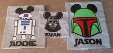 Star Wars themed Disney World Family Shirts: Darth Vader, Yoda, Boba Fett, Storm Trooper, R2D2- Perfect for Star Wars Weekends!