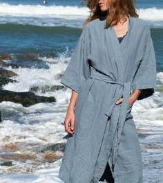Kimono en chanvre - Couleur chanvre