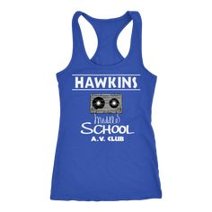 200fcc55d4ca6 Stranger Hawkins Middle School Racerback Tank Top for Women Things A V Club