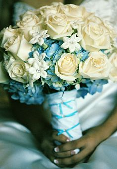 Soft blue and white flowers.... Amy Mancuso Events