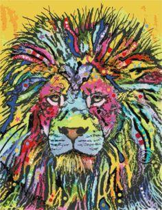 Abstract lion cross stitch kit