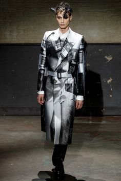 Alexander McQueen Fall 2014 Menswear Collection Slideshow on Style.com  SCREEN PRINT TRENCH COAT. I have died and gone to trench coat heaven.