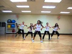 This version of the song is by the Pussycat Dolls.  This routine is meant to be taught in a Group Exercise class.