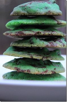 Andes Mint Sugar Cookies...simple and easy recipe!