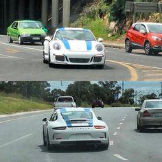 Just in time for Christmas  Brand new Porsche 911 R cruising around Benoni spotted by #fabs_von_steck  #ExoticSpotSA #Zero2Turbo #SouthAfrica #Porsche #911R