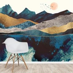 Update your home with this made to measure Blue Mountain Reflection wallpaper. FREE UK delivery within 2 to 4 working days. Bedroom Murals, Wall Murals, Wall Art Decor, Bedroom Decor, Mountain Mural, Blue Mountain, Photo Wallpaper, Wall Wallpaper, Wall Painting Living Room