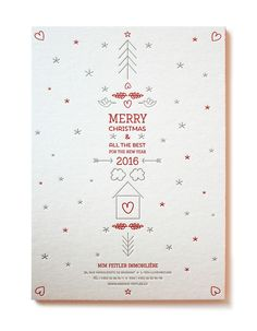 Letterpress Christmas Card on Behance