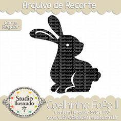 Coelhinho Fofo II, coelhinho, fofo, coelho, animal, páscoa, fofinho, cute, sweet, little, bunny, rabbit, cute bunny, bunny ears, baby, arquivo de recorte, corte regular, regular cut, svg, dxf, png, Studio Ilustrado, Silhouette, cutting file, cutting, cricut, scan n cut.