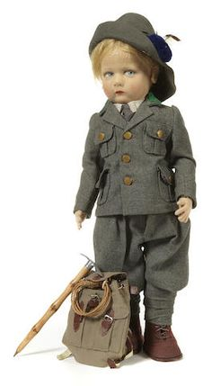 A Lenci felt doll of a hiker