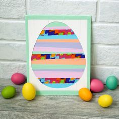 How to make a cute DIY duct tape striped egg http://duckbrand.com/craft-decor/activities/easter-striped-egg?utm_campaign=dt-crafts&utm_medium=social&utm_source=pinterest.com&utm_content=duct-tape-crafts-spring