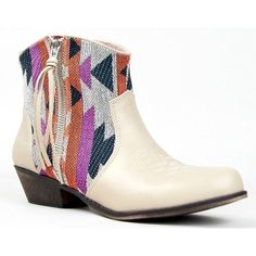 TRIO-23 Printed Western Cowboy Inspired Stacked Heel Ankle Boot Bootie * You can get more details by clicking on the image. (This is an affiliate link) #AnkleBootie