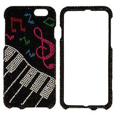 "myLife Black, Pink, Red and White {Glittery Glam Rhinestones Piano Keys Musical Notes Music} 2 Piece Snap-On Rubberized Protective Faceplate Case for the NEW iPhone 6 (6G) 6th Generation Phone by Apple, 4.7"" Screen Version ""All Ports Accessible"" myLife Brand Products http://www.amazon.com/dp/B00U2YGZ0I/ref=cm_sw_r_pi_dp_Gjyhvb0Z2T1Q4"
