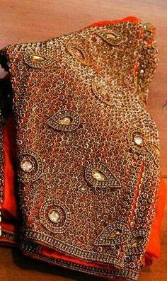 Aari Embroidery, Hand Work Embroidery, Golden Blouse, Aari Work Blouse, Wedding Saree Blouse Designs, Maggam Work Designs, Ethnic Design, Blouse Patterns, Sleeve Designs