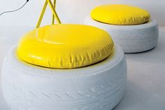 With so many potholes around the country, makes sense to put old tyres to good use. This idea for using tyres as seating is great.