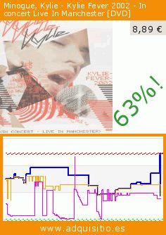 Minogue, Kylie - Kylie Fever 2002 - In concert Live In Manchester [DVD] (DVD). Baja 63%! Precio actual 8,89 €, el precio anterior fue de 24,22 €. https://www.adquisitio.es/emi-music-spain-slu/fever-2002-live-in